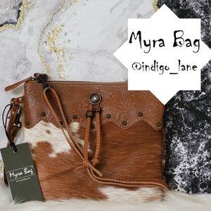 "Myra ""Ornate"" Leather & Hair-on Shoulder Bag"